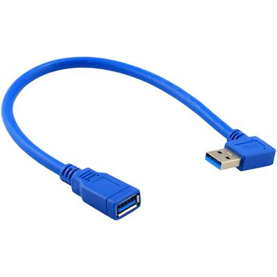 USB 3.0 Right Angle Male to USB 3.0 Female Extension Cable 1 FT
