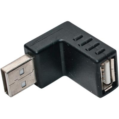 Right Angle USB 2.0 Male to Down Facing Female Extension Adapter