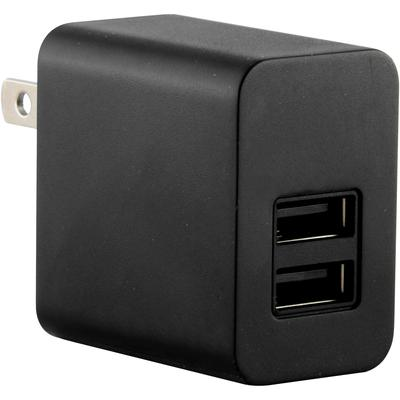 5V 2100mA Universal Home Wall AC to USB 2-Port Adapter Charger, Black
