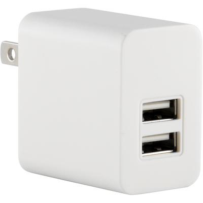 5V 2100mA Universal Home Wall AC to USB 2-Port Adapter Charger, White
