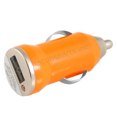 Mini Universal USB Car Charger DC Power Adapter, 5V 1A, Orange