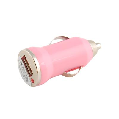 Mini Universal USB Car Charger DC Power Adapter, 5V 1A, Pink