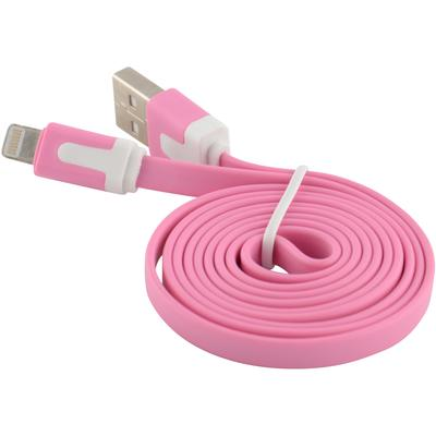 Flat Tangle-Free USB Data Sync Charger Cable for Apple iPad 4 Mini Air, Pink