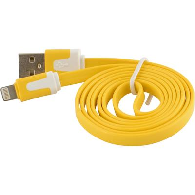 Flat Tangle-Free USB Data Sync Charger Cable for Apple iPad 4 Mini Air, Yellow