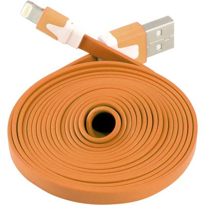 Extra Long Flat 6 FT USB Data Sync Charger Cable for Apple iPhone 5 5S 5C iOS 7 (Orange)
