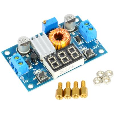 XL4015 5A DC-DC Buck Step-down Voltage Converter Module Adjustable Power Regulator Board with LED Voltmeter