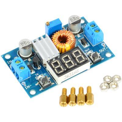 XL4015 5A DC-DC Buck Step-down Voltage Converter Module Adjustable Power Regulator Board with LED Voltmeter