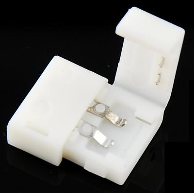 8mm 2-pin Solderless Clip-on Coupler Connector for 3528 LED Strip Light PCB