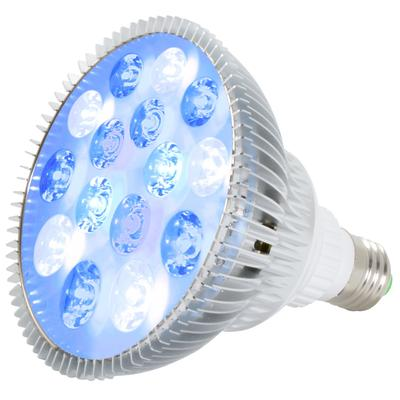 ABI LED Aquarium Light Bulb, True 23W with Active Cooling (Royal Blue 450nm + Cold White 10000K + Actinic Blue 425nm + Blue 470nm)