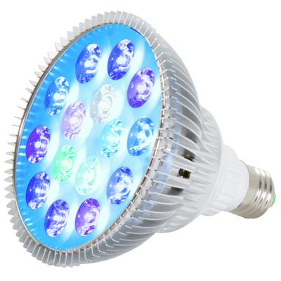 ABI True 23W Tuna Blue LED Bulb Coral Reef Optimized Spectrum PAR38 with Active Cooling