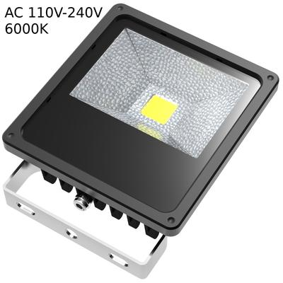 ABI 50W LED Flood Light Daylight White 6000K Outdoor Security Lights IP65 Waterproof Lamp 5000lm with 10ft Cord
