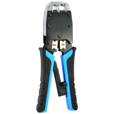 Delcast Ratcheting Cable Crimper for CAT5 RJ-45 / RJ-11 Network Cables