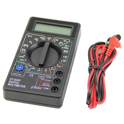 Digital Voltmeter Ohmeter Multimeter Tool 500V 10A